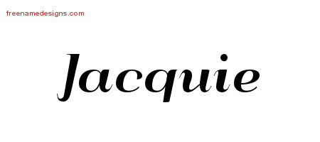 Art Deco Name Tattoo Designs Jacquie Printable