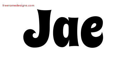 Groovy Name Tattoo Designs Jae Free