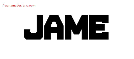 Titling Name Tattoo Designs Jame Free Printout