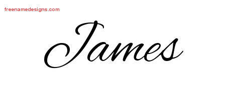 Cursive Name Tattoo Designs James Free Graphic