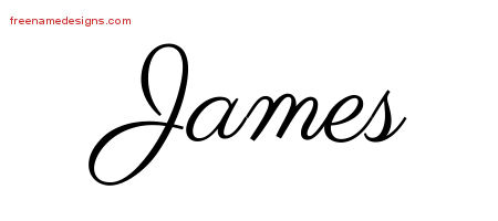 Classic Name Tattoo Designs James Graphic Download