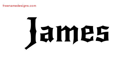 Gothic Name Tattoo Designs James Download Free