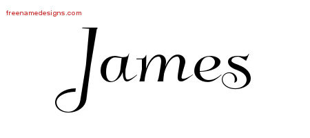 Elegant Name Tattoo Designs James Free Graphic
