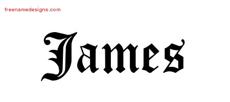 Blackletter Name Tattoo Designs James Graphic Download