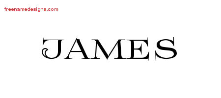 Flourishes Name Tattoo Designs James Graphic Download