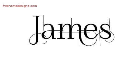 Decorated Name Tattoo Designs James Free Lettering