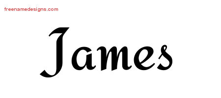 Calligraphic Stylish Name Tattoo Designs James Free Graphic