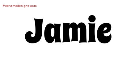 Groovy Name Tattoo Designs Jamie Free Lettering