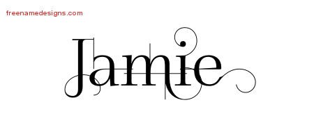 Decorated Name Tattoo Designs Jamie Free