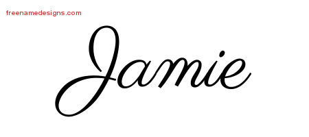 Classic Name Tattoo Designs Jamie Graphic Download