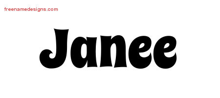 Groovy Name Tattoo Designs Janee Free Lettering