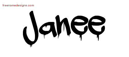Graffiti Name Tattoo Designs Janee Free Lettering