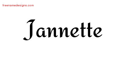 Calligraphic Stylish Name Tattoo Designs Jannette Download Free