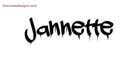 Graffiti Name Tattoo Designs Jannette Free Lettering