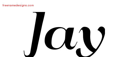 Art Deco Name Tattoo Designs Jay Printable