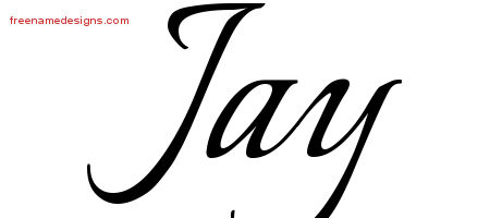 Calligraphic Name Tattoo Designs Jay Free Graphic