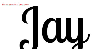 Handwritten Name Tattoo Designs Jay Free Printout