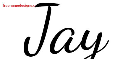 Lively Script Name Tattoo Designs Jay Free Printout