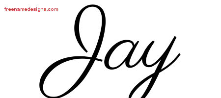 Classic Name Tattoo Designs Jay Printable