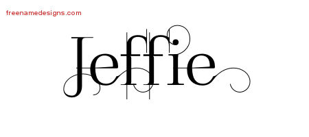 Decorated Name Tattoo Designs Jeffie Free