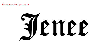 Blackletter Name Tattoo Designs Jenee Graphic Download