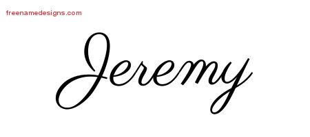 Classic Name Tattoo Designs Jeremy Printable