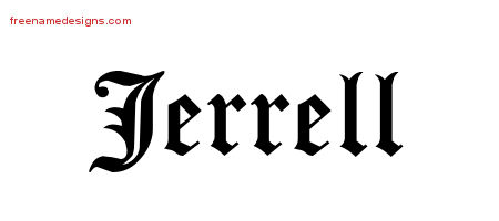 Blackletter Name Tattoo Designs Jerrell Printable