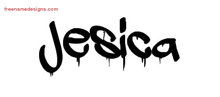Graffiti Name Tattoo Designs Jesica Free Lettering