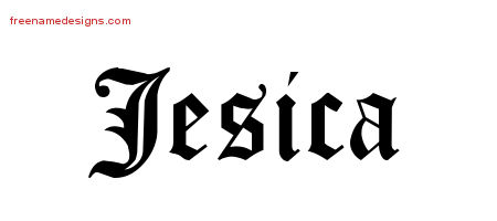 Blackletter Name Tattoo Designs Jesica Graphic Download