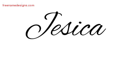 Cursive Name Tattoo Designs Jesica Download Free