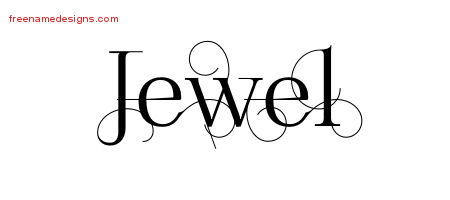 Decorated Name Tattoo Designs Jewel Free Lettering
