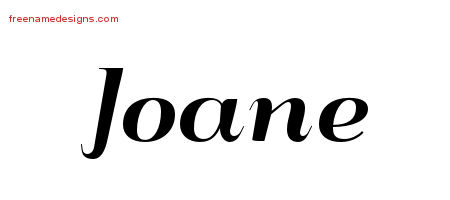 Art Deco Name Tattoo Designs Joane Printable