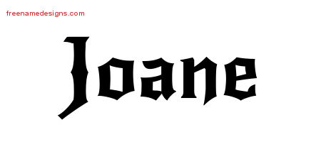 Gothic Name Tattoo Designs Joane Free Graphic