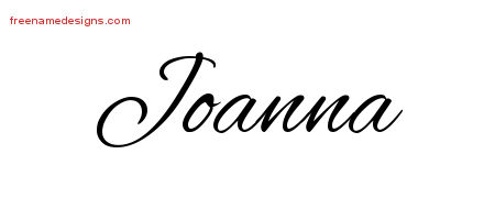 Cursive Name Tattoo Designs Joanna Download Free