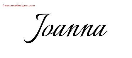 Calligraphic Name Tattoo Designs Joanna Download Free