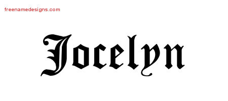 Name Jocelyn - Free Designs Blackletter Graphic Download Tattoo