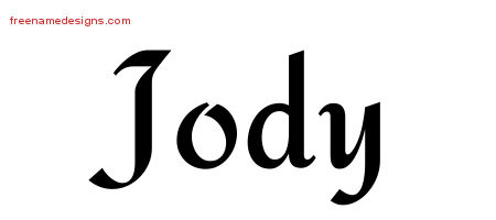 Calligraphic Stylish Name Tattoo Designs Jody Download Free
