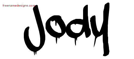 Graffiti Name Tattoo Designs Jody Free Lettering