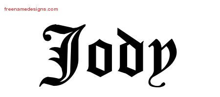 Blackletter Name Tattoo Designs Jody Graphic Download