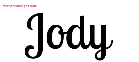 Handwritten Name Tattoo Designs Jody Free Printout