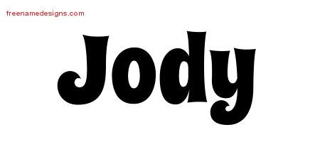 Groovy Name Tattoo Designs Jody Free Lettering