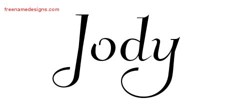 Elegant Name Tattoo Designs Jody Free Graphic
