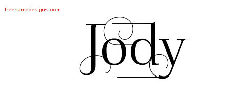 Decorated Name Tattoo Designs Jody Free Lettering