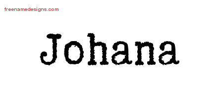 Typewriter Name Tattoo Designs Johana Free Download