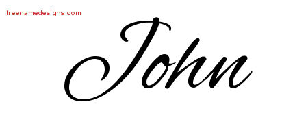 Cursive Name Tattoo Designs John Free Graphic