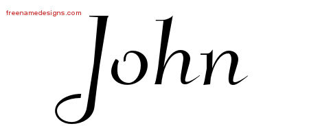 Elegant Name Tattoo Designs John Free Graphic