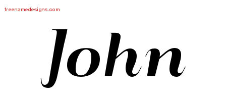 Art Deco Name Tattoo Designs John Printable