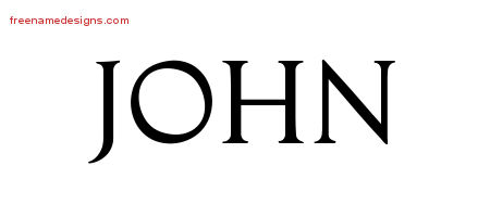 Regal Victorian Name Tattoo Designs John Printable