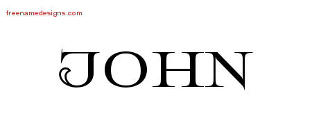 Flourishes Name Tattoo Designs John Printable