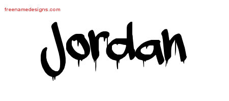 Graffiti Name Tattoo Designs Jordan Free Lettering